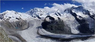 High resolution landscape panoramic photography - Gornergrat Zermatt