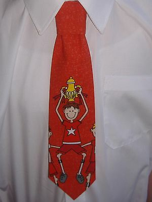 Boys Red Football Champions Tie - Pre-tied elasticated