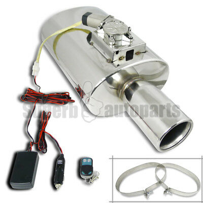 "JDM Style 4"" Tip Stainless Exhaust Muffler W/ Electro Adjustable Valve Silencer"