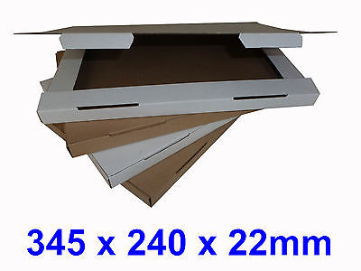C4 A4 Large Letter Cardboard Postal Boxes, Maximum Size PIP - 345 x 240 x 22mm