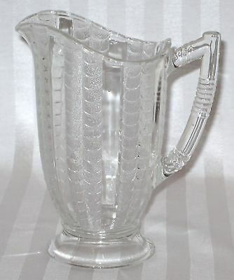 Bryce Brothers FISHSCALE Clear Milk Pitcher c. 1898 EAPG