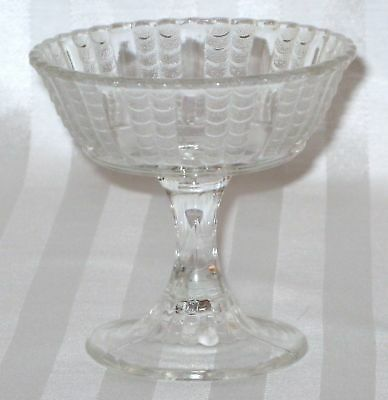 Bryce Brothers Clear FISHSCALE Jelly or Sherbet  c. 1898 EAPG