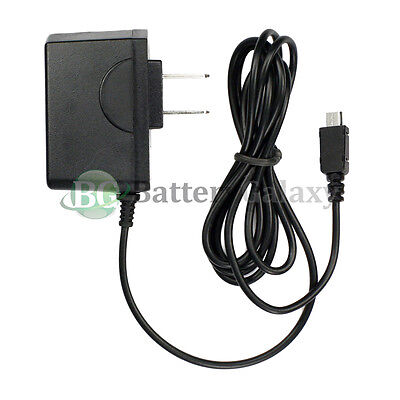 100 Micro USB Home Wall AC Charger for Blackberry HTC LG Motorola Samsung Phones