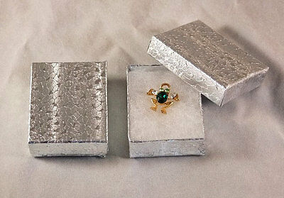 SILVER COTTON FILLED GIFT BOXES 100 QTY