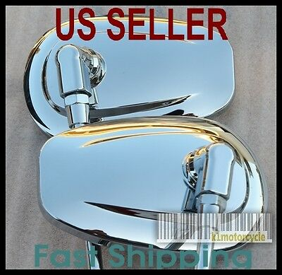 Pair Chrome Mirrors Tear Drop - Honda Silver Wing GL500 GL650