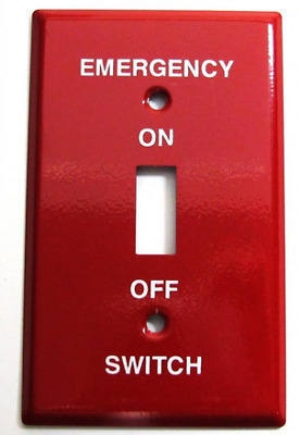 Steel Emergency Toggle Switch Plate Outlet Cover Metal Red Oil Burner Boiler