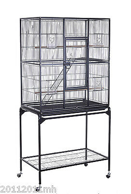 "63"" Bird Cage Large Pet Play Room Bird Parrot Finch Cage Macaw Cockatoo w/ Tray"