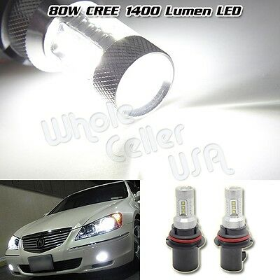80W High Power 1300LM CREE LED 9004 HB1 White Headlight Low Beam Projector Bulb
