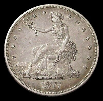 1877-S Silver Trade Dollar -Extremely Fine Condtion