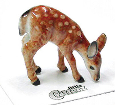 ➸ LITTLE CRITTERZ Forest Animal Miniature Figurine Deer Fawn Ophrah