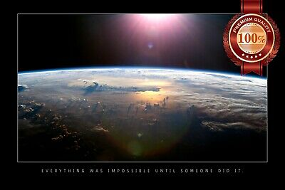 Impossible Space Motivational Quote Saying Inspirational Artwork Print Poster