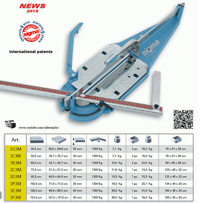 Sigma 3C3M MAX Professional Tile Cutter 72cm NEW 2015 MODEL