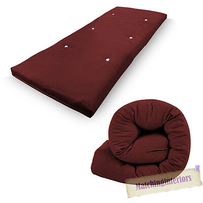 Wine Budget Single Futon Sofabed Replacement Roll Up Folding Sleeping Mattress