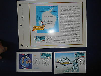 C P Premier Jour Document CEF Timbre Expedition Polaire Francaise terre Adelie