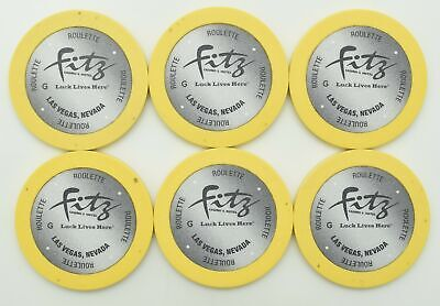 Fitzgeralds Fitz Las Vegas Nv Casino Roulette  Chip - Free Shipping *