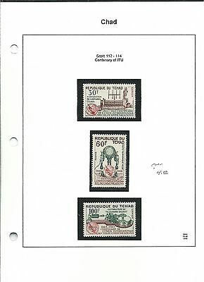 Chad, Postage Stamp, Space Topical, #112-114, 225, 237-239, 1965-1971
