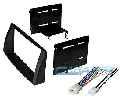 Double 2 Din Car Stereo Radio Install Dash Kit W/ Wiring For 2003-2008 Corolla