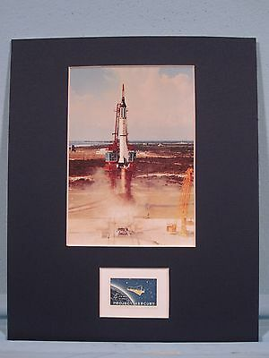 Alan Shepard, the First American into Space  & Project Mercury stamp