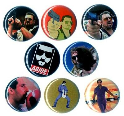 8  Badges  The Big Lebowski  -  Pins/buttons