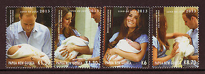 Papua New Guinea 2013 Royal Baby Set Of 4 Unmounted Mint, Mnh