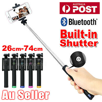 Bluetooth Extendable Handheld Remote Selfie Stick Unipod For Samsung iPhone XS X