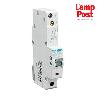 HAGER RCBO Circuit Breaker Type B - CHOOSE FROM 6 - 50 AMP