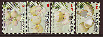 Papua New Guinea 2013 Coconuts Set Of 4 Unmounted Mint, Mnh