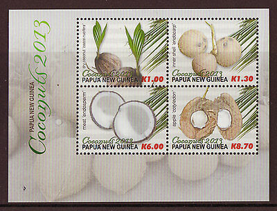 Papua New Guinea 2013 Coconuts Sheetlet Of 4 Unmounted Mint, Mnh