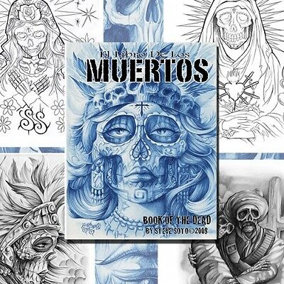 BOOK OF THE DEAD by Steve Soto (30 pages) Tattoo Design Sketch Flash Book Supply