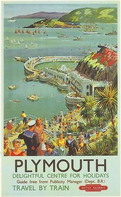 1950's British Railway Plymouth A3 Poster Reprint