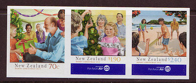 New Zealand 2013  Christmas Self Adhesive Strip Of 3 Unmounted Mint