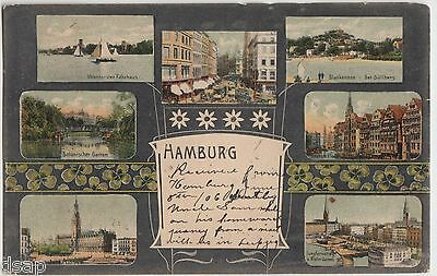 1906 HAMBURG Germany Postcard 7Views Blankenese der Sullberg Uhlenhorster