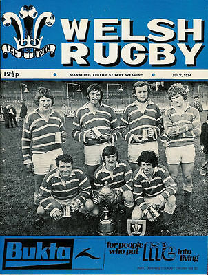 Welsh Rugby Magazine July 1974, Bridgend, Pontycymmer, Lions In South Africa