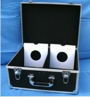 "Dj 7"" Record Box / Flight Case Holds 200 Black +24Hdel"