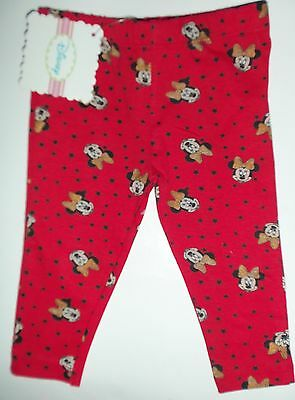 Baby Girls Red Leggings with Minnie Mouse detail