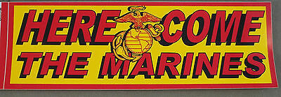 """US Marine Corps Decal - Bumper Sticker  """" Here Come The Marines """""""