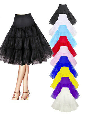 "27"" Retro 50s Underskirt Swing Vintage Petticoat Fancy Net Skirt Rockabilly Tutu"