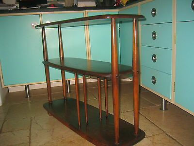 Vintage Ercol Windsor book shelf shelves room divider 1960's retro mid century