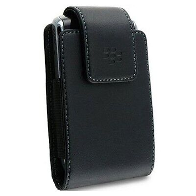 OEM BLACK LEATHER CASE COVER SWIVEL BELT CLIP HOLSTER for BLACKBERRY CELL PHONES