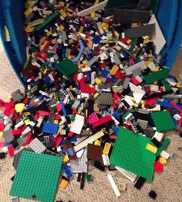 LEGO // 400 x Clean Parts & Bricks & Pieces / Build With LEGO / Mixed Colors