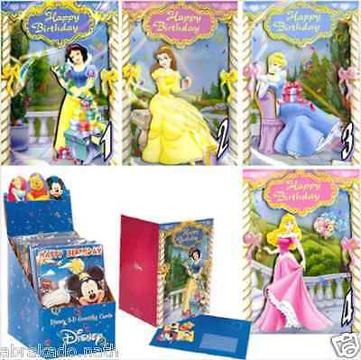 Lot De 24 Cartes De Voeux Anniversaire 3D Musicales Disney Princesse Cars Winnie