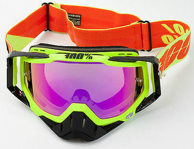 100% PERCENT RACECRAFT MOTOCROSS GOGGLE NEON SIGN with PINK MIRROR LENS
