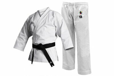 Adidas Karate Suit Gi Club WKF Approved Adult / Kids Uniform White K220C