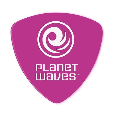 D'Addario Planet Waves Guitar Picks Duralin Rounded Tri  Heavy  Purple 10 Pack