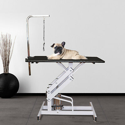 Z-Lift Hydraulic Pet Dog Grooming Table Portable Adjustable Arm Leash Noose New