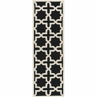 "Safavieh Handmade Cambridge Moroccan Black Wool Runner Rug (2'6"" x 8')"