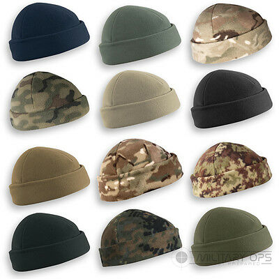Helikon Army Military Tactical Beanie Hat Field Watch Cap Docker Camo Fleece