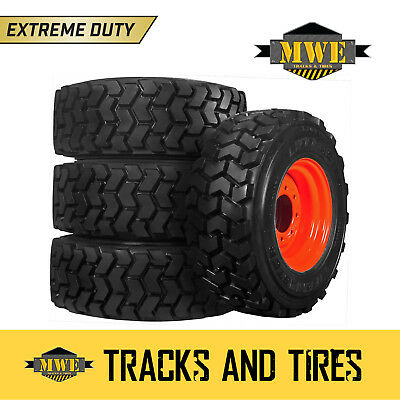 12x16.5 (12-16.5) 12-Ply Extreme Duty Lifemaster Skid Steer Tires - Bobcat Rims