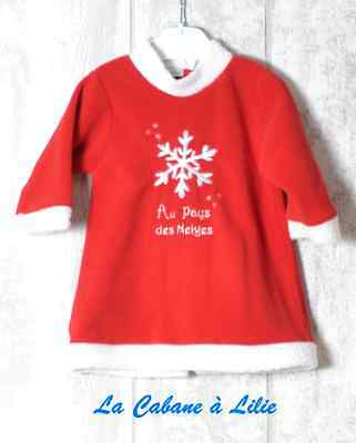 ♥ Robe Rouge Blanc Manche Longue IN EXTENSO 9 Mois ♥ D31