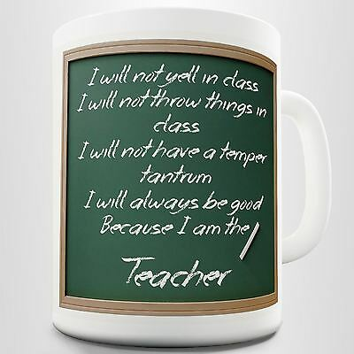 Teacher Rules Funny Coffee Mug Printed Cup